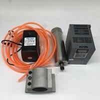 Changsheng 2.2KW 3hp 220v 24000rpm ER20 1 13mm Water Cooled Spindle Motor VFD pump 80mm Clamp kit CNC Router woodworking