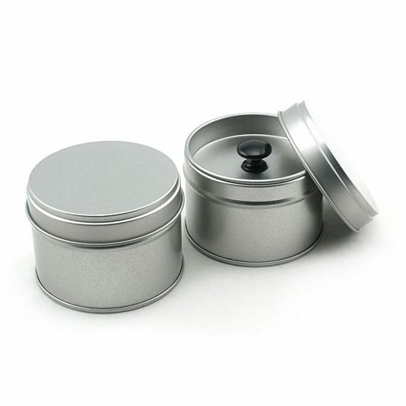 20pcs 64 46mm Round Tea Tin Box With Double Lids Plain