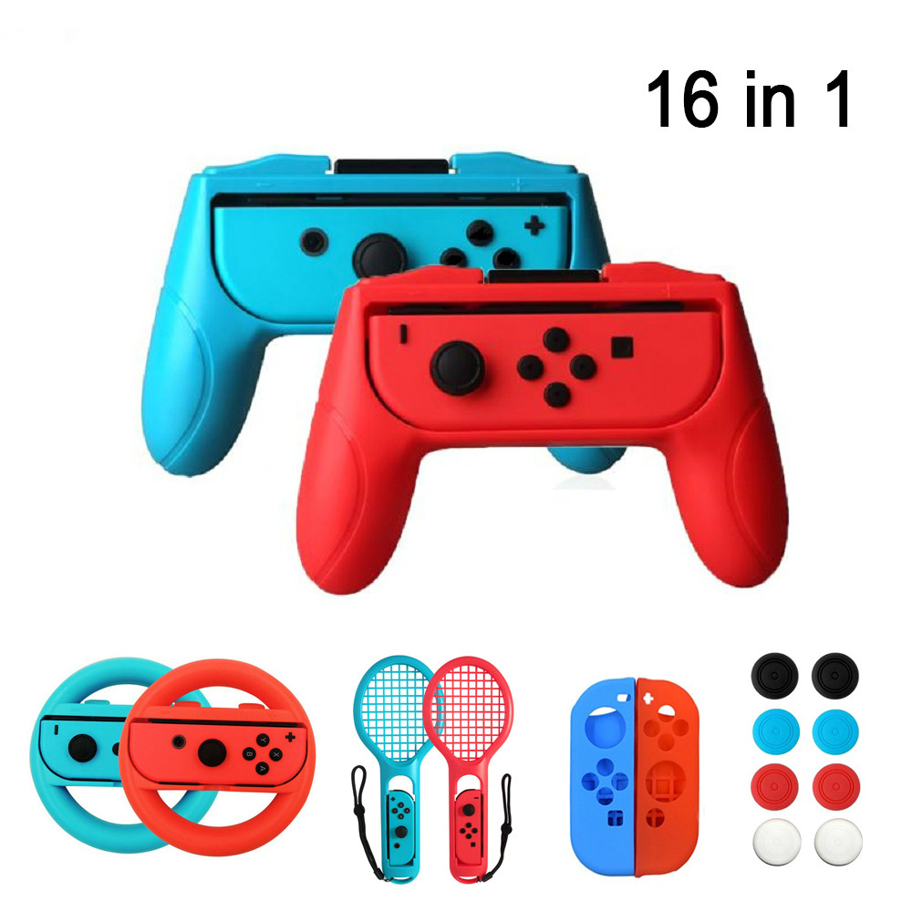 2 unids/set agarres para el mando estuche Con alegría para Nintend Switch Joy Con mango NS n-switch accesorios para consola de juegos