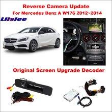 Liislee For Mercedes Benz A W176 2012~2014 Original Screen Update / Reversing Track Image + Reverse Camera Digital Decoder