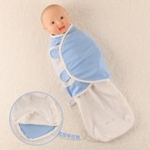 Printemps Été Automne Nouveau-Né Bébé Coton Swaddle Wrap Bébé Enveloppe Couverture Zipper Conception Infantile Emmailloter