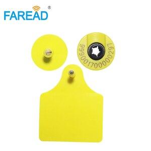 Image 4 - Etiqueta de oreja redonda para identificación de animales, x100 pares, para Vaca, ganado, cerdo, oveja, etiqueta de identificación de animales RFID, estándar HDX visible