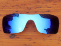 Polycarbonate-Ice Blue Mirror Replacement Lenses For Batwolf Sunglasses Frame 100% UVA & UVB Protection