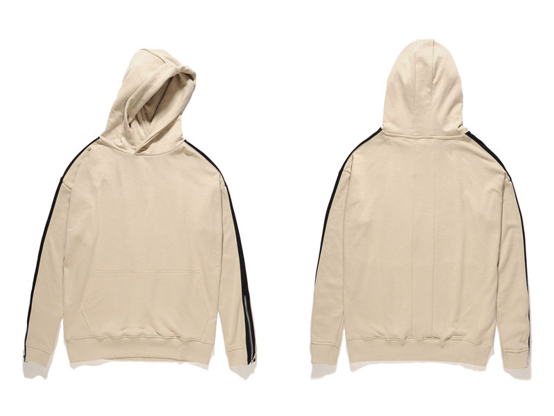 Zipper Sleeve Hoodies 7