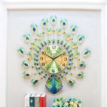Large Digital Clock Wall Watch Home Decor Electronic Modern Design 3D Big Rose Gold Decoration Room Peacock Antik B73