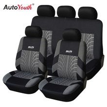 AUTOYOUTH Tyre Line Seat Covers Supports Full font b Car b font Seat Cover Universal Auto