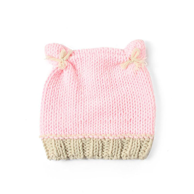 2017 New born crochet hats photography newborn props Handmade baby girl. 0-3 month knitted animals rabbit pink winter beanies newborn photography prop crochet hats handmade baby costume knitted beanies hat caps