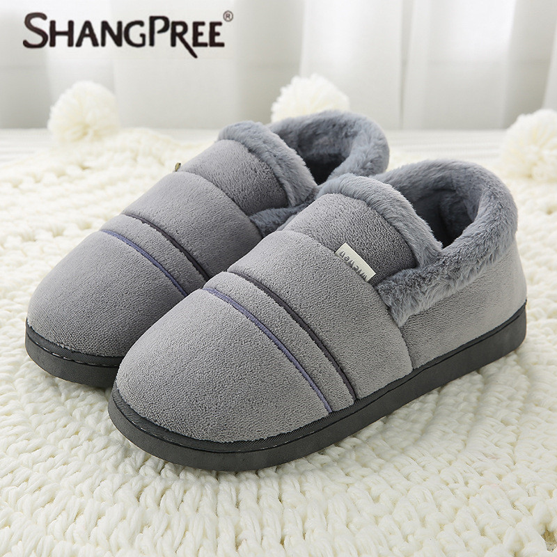 все цены на SHANGPREE Women Slippers Winter Sweet Home cotton Slippers Woman Indoor Shoes Warm Soft Slip On Gray Pink Grey Couple Slipper