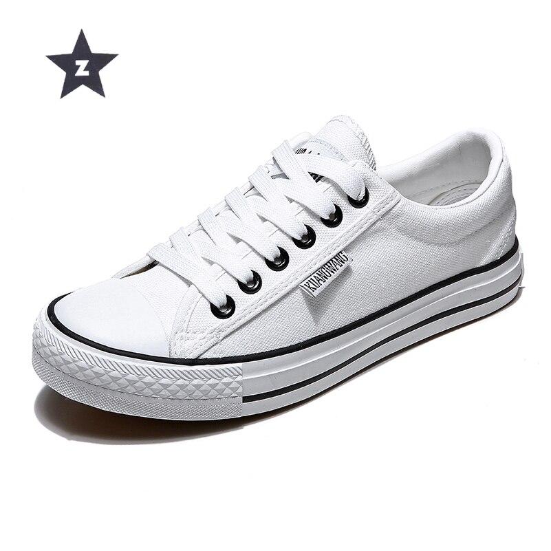 Z donne vulcanize scarpe bianche scarpe di tela scarpe da donna sneakers unisex lace-up casual traspirante scarpe da passeggio formato 35- 44Z donne vulcanize scarpe bianche scarpe di tela scarpe da donna sneakers unisex lace-up casual traspirante scarpe da passeggio formato 35- 44