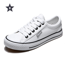 hot deal buy z women vulcanize shoes white canvas shoes woman sneakers unisex lace-up breathable casual walking shoes size 35-44