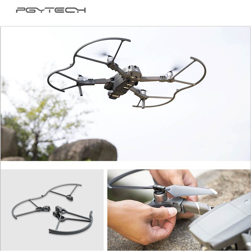 PGYTECH 4 Pieces/Set 8743F Propeller Guard Protector for DJI Mavic 2 Pro/ZOOM Propeller Protector Protection Accessories 4pcs set prop propeller protection ring unmanned aerial vehicle crash accessories for dji mavic pro