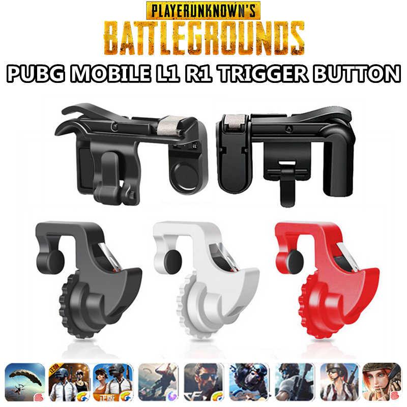 PUBG мобильный L1 R1 кнопку бесплатно огонь снимать игры триггер Aim ключ для iPhone IOS телефона Android PUGB R1 L1 шутер кнопки управления