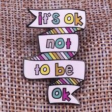 それはokではないokピン精神健康意識バッジうつ病自殺予防ブローチ停止沈黙ピン感情的なユダヤ人