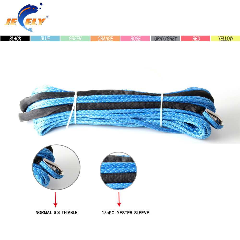 Free Shipping 6MM*30M UHMWPE ATV & UTV Off-road Winch Rope 12-Strand Braided synthetic winch rope 3500lb winch electric winch 12v 4x4 utv atv winch free shipping