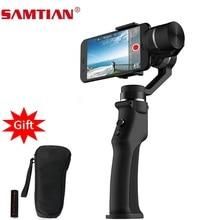 SAMTIAN חלק 3 ציר חכם כף Gimbal מייצב עבור טלפון XS XR X 7 8 בתוספת Samsung S7 8 9 תמונה וידאו הקלטה