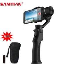 SAMTIAN السلس 3 محور يده الذكي مثبت أفقي للهاتف XS XR X 7 8 Plus سامسونج S7 8 9 صور تسجيل الفيديو