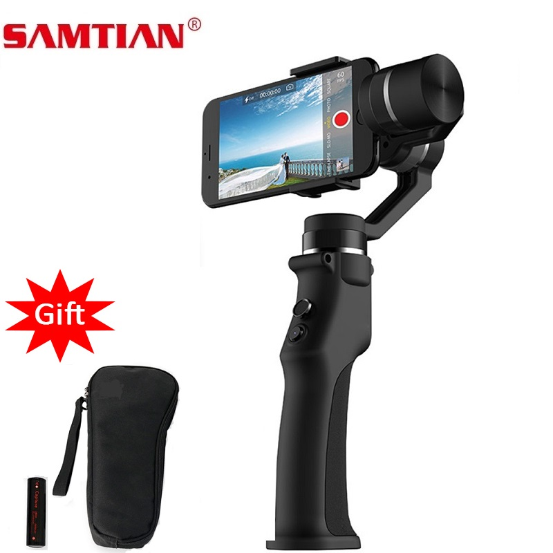 SAMTIAN Smooth 3 Axis Handheld Smartphone Gimbal Stabilizer For Phone XS XR X 7 8 Plus Samsung S7 8 9 Photo Video Recording-in Handheld Gimbal from Consumer Electronics