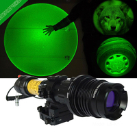 Laserspeed Long Distance Green Laser Designator with Adjustable Torch Scope Mount Zoomable Subzero Working Hunting Accessories