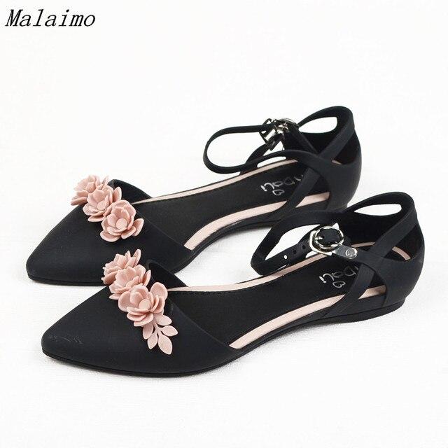 08270fcb5 Camellia pointed plastic sandals