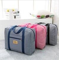 2017 Marka kalite seyahat örgü çantası saklama çantası su geçirmez çanta taşınabilir bagaj seyahat çizgili ambalaj organizatörler çanta
