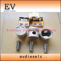 Para Isuzu Mini excavadora 3AD1 juego de pistón y anillo de pistón completamente para una reparación de motor