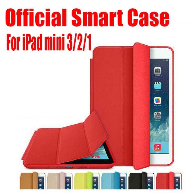 1 pc mais novo design oficial melhor qualidade 7.9 polegada pu leather case inteligente para apple ipad mini 3 2 1 + screen film no: im01