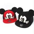 Ano novo Moda Mickey Crianças Snapback Caps Boné De Beisebol Com Orelhas Chapéus Engraçados Casquette Hip Hop Snapback Osso Aba Plana