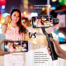 3 axis Flexibele Handheld PTZ Stabilisator multifunctionele Smart Schieten PTZ Mobiele Telefoon Houder voor Samsung X9 X 8 Plus 7 iPhone