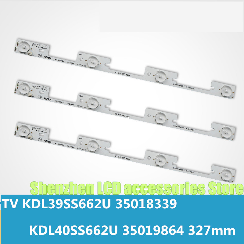 10 Pieces  4 LEDs* 6V LED Backlight Bar For  Konka 39 Inches TV KDL39SS662U 35018339 Konka 40 Inches  KDL40SS662U 35019864 327mm