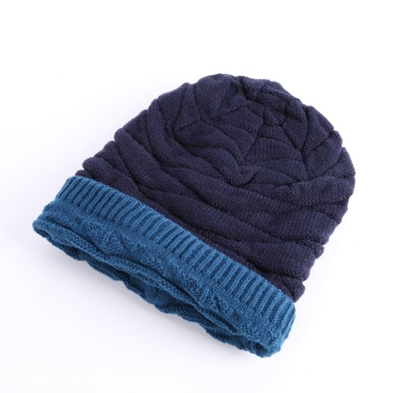 New Men Women Warm Winter Knitted  Beanie Skull Cap Hat Unisex Cashmere Hip-Hop YQ23 unisex cotton hip hop hat with ring warm beanie cap in winter women knitted hats men and women skullies
