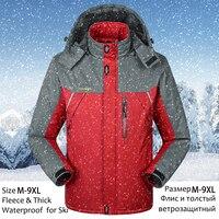 Men Winter Jacket Waterproof Hooded Windbreaker Jacket Men Plus Size 7XL 8XL 9XL Casual Thick Warm Fleece Parka Male Winter Coat