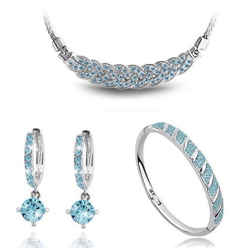 AAAA + steentjes twist ketting oorbel armband mode-sieraden sets - Mode-sieraden - Foto 6