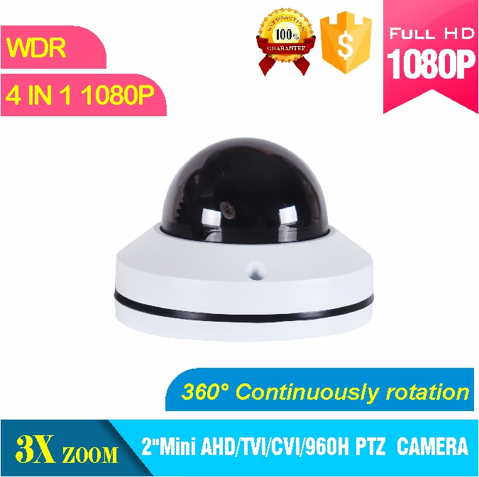 2 mini  CVI PTZ camera 1080P CVI output 2MP  3X zoom Camera IR distance 20M IK10 PTZ dome camera new ahd tvi cvi cvbs 1080p mini ir ptz night vision zoom dome camera zoom lens dome camera with 3x optical zoom 2mp motorized