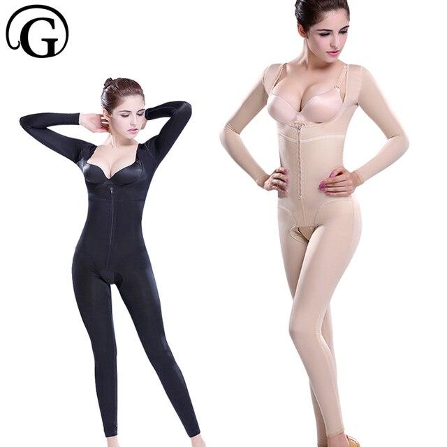 a5e2ad2804efb PRAYGER Women Magic Recovey Full Body Shaper Slimming Arm Lift Bra Shapewear  Thigh Slimmer Bodysuits