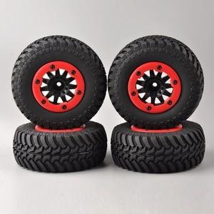 Image 5 - 4 개/대 RC 자동차 1:10 짧은 코스 트럭 타이어 TRAXXAS 슬래시 HPI 원격 제어 자동차 모델 장난감 부품에 대 한 타이어 바퀴 림 맞는 설정