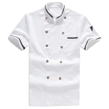 2017 New Chef's Short-sleeved Outfit Summer Wear Work Clothes Men and Women Overalls Hotel Kitchen Chef Uniform
