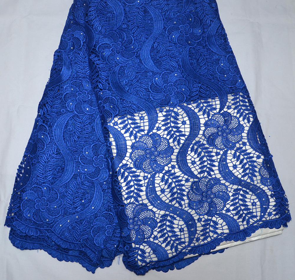 Latest High Quality Nigeria design Royal blue/Yellow African red guipure wedding lace fabric  5 yards traditional wedding laceLatest High Quality Nigeria design Royal blue/Yellow African red guipure wedding lace fabric  5 yards traditional wedding lace