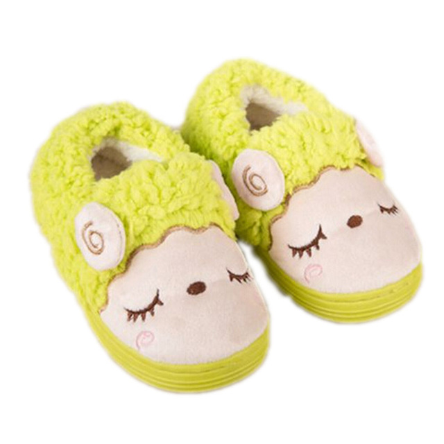 Kids Slippers For Girl Winter Children Shoes Cartoon Sheep Kids Home Shoes Soft Comfortable Warm Winter Girls Boys Home Slippers