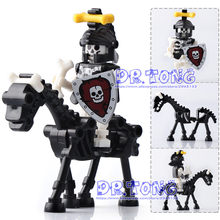 DR.TONG Single Sale The Lord of the Rings Medieval Castle Knights Rome Knights Skeleton Horses Building Bricks Blocks Toys Gifts(China)