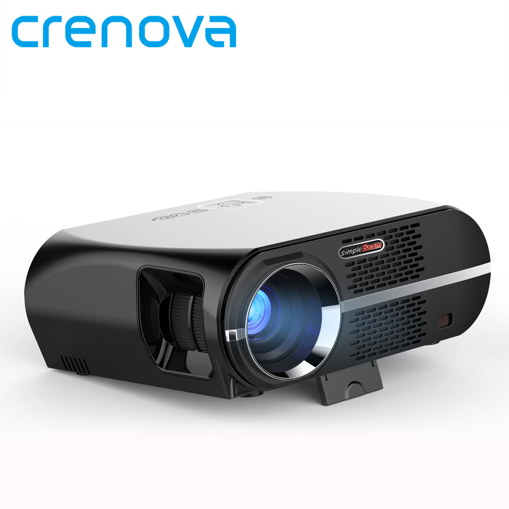 Crenova GP100UP Projector Set in Android 6.0.1 WIFI  Bluetooth Projector 3500 Lumens 1080P Full HD LED TV Beamer Video Proyector everyone gain video projector 3000 lumens highlight build in speaker android 4 2 support 1080p movie proyector tl300