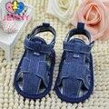 JENNY criança recém-nascidos do bebê meninas e meninos sapatos de lona verão legal primeiros caminhantes infantis respirável sapatos de sola macia para 0-1 bebê