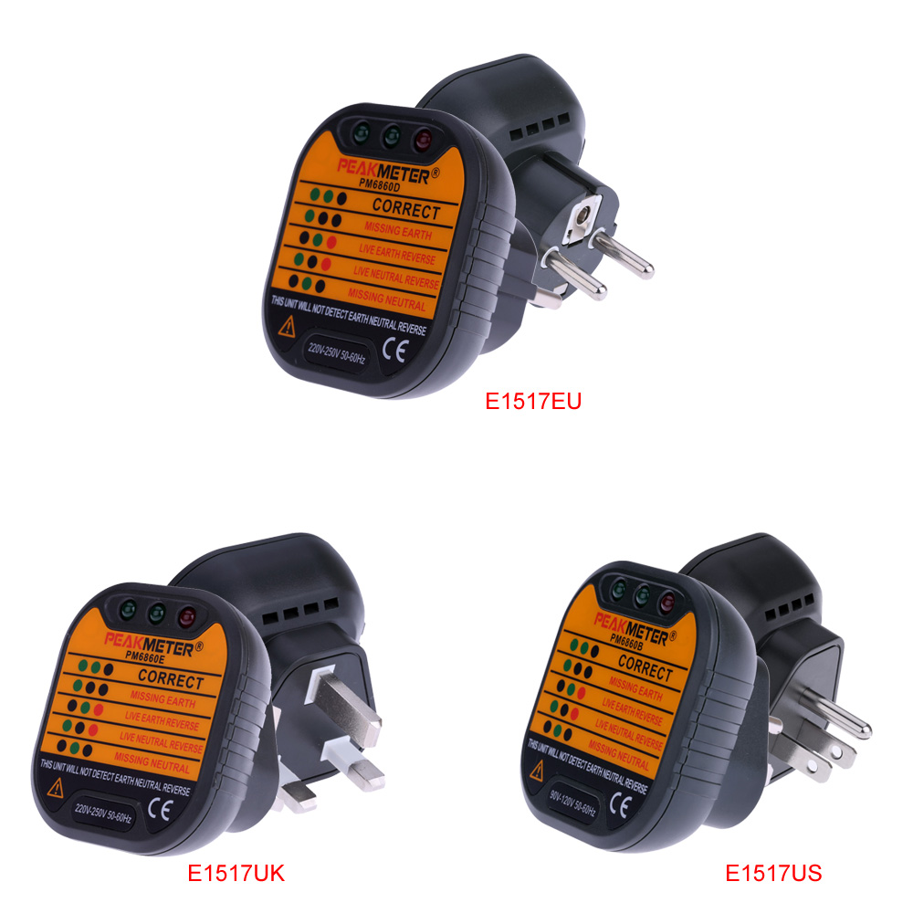 PM6860D Automatische Elektrische Steckdose Tester/diagnose ...