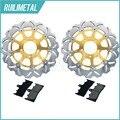 Os Discos De Freio dianteiro Rotores Pads Set para Suzuki GSX-R 750 96 97 98 99 GSXR 1000 01 02 TL 1000 R 98-03 GSX1300R Hayabusa K1 K2 99-07