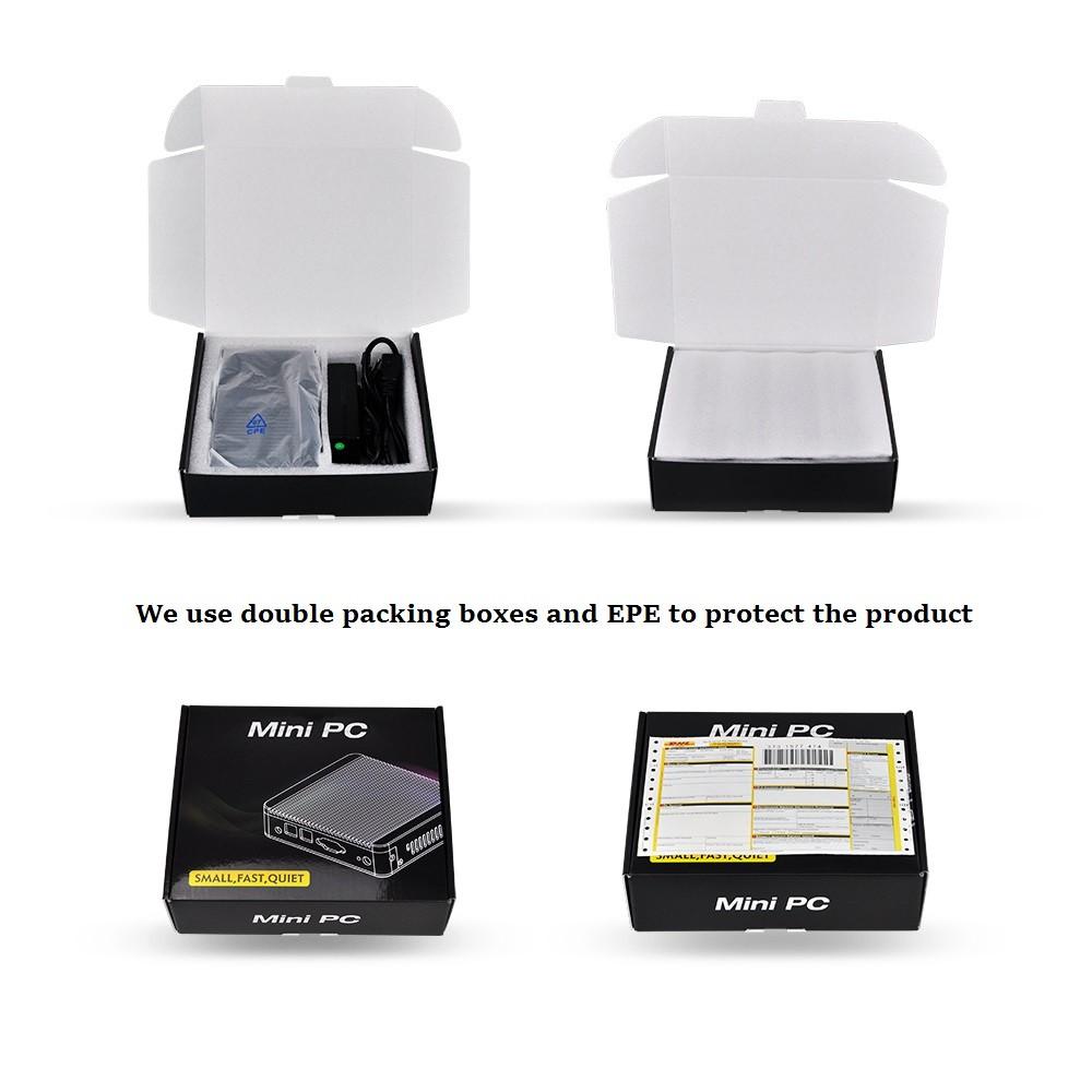 QOTOM Q330G4 Mini PC Core i3-4005U Max 8G RAM 128G SSD 4 Intel LAN ports Linux Mini PC PFSENSE