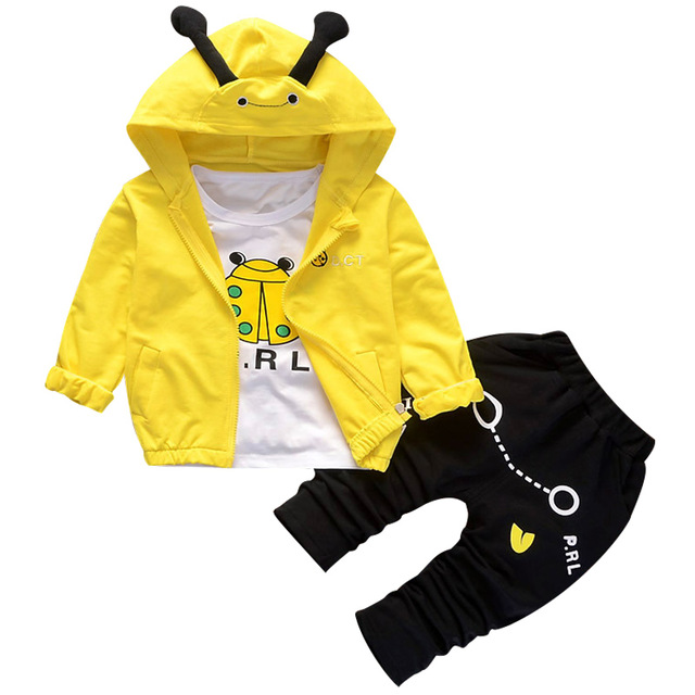 New High quality Boys Clothing Sets Spring Autumn Sets Coat Suits Plaid Cotton Baby Boys Coat+T shirt+Pant 3Pcs Baby Jackets set children boys clothes sets for girl baby suit high quality cartoon spring autumn coat t shirt pants set kids clothing set 1 4y