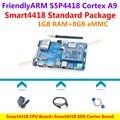 Quad core Cortex A9 S5P4418 ПРОЦЕССОРНАЯ Плата + Smart4418 SDK Несущей Платы + Power + Кабель USB + Последовательный Кабель = Smart4418 стандартный Пакет