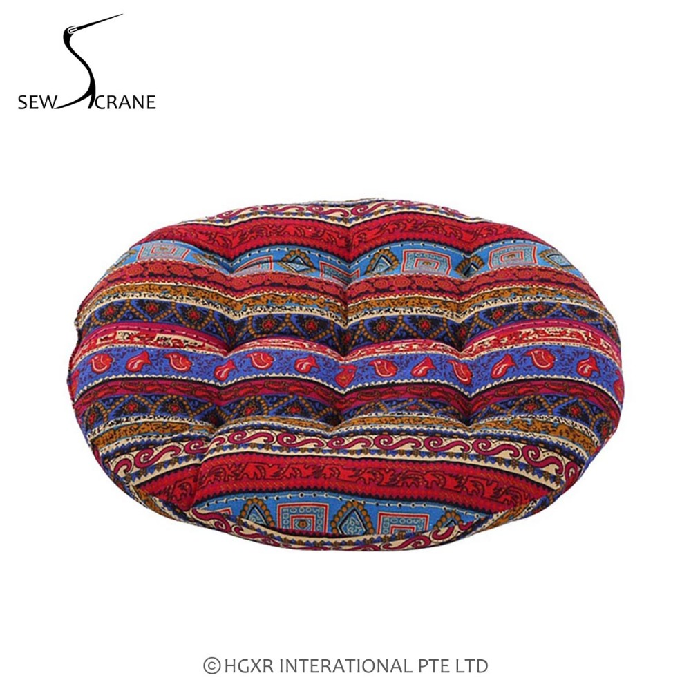 Exellent Ethnic Floor Cushions Abstract Geometric Vintage Striped Cotton Linen Japanese Intended Innovation Design