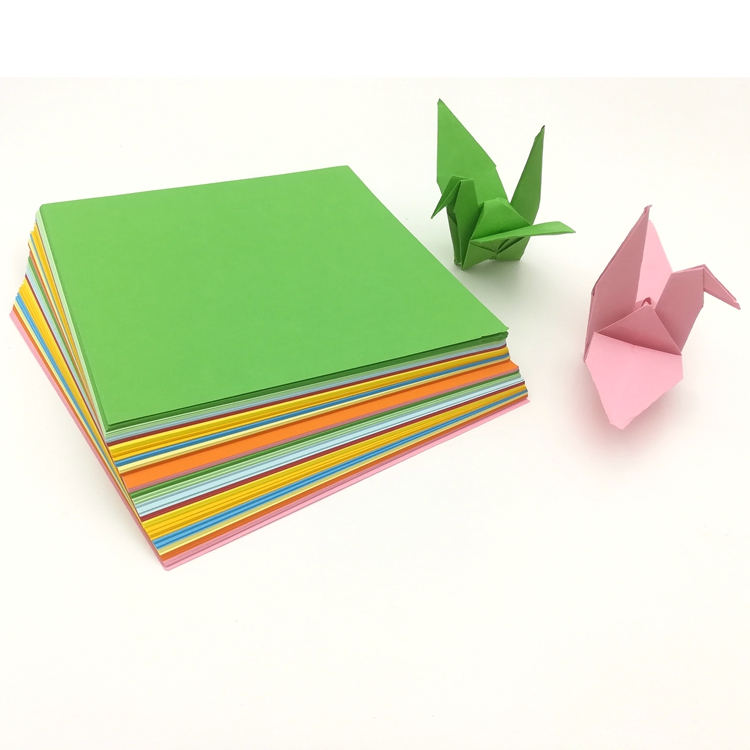 A colorful square hand folding handicraft paper that can be photocopied