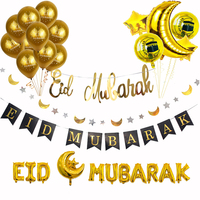 Ramadan Decor Eid Party balloons Banner Gold Glitter EID MUBARAK Garlands Muslim Islam Hajj Ramadan Party Decoration Supplies|Party DIY Decorations| |  -