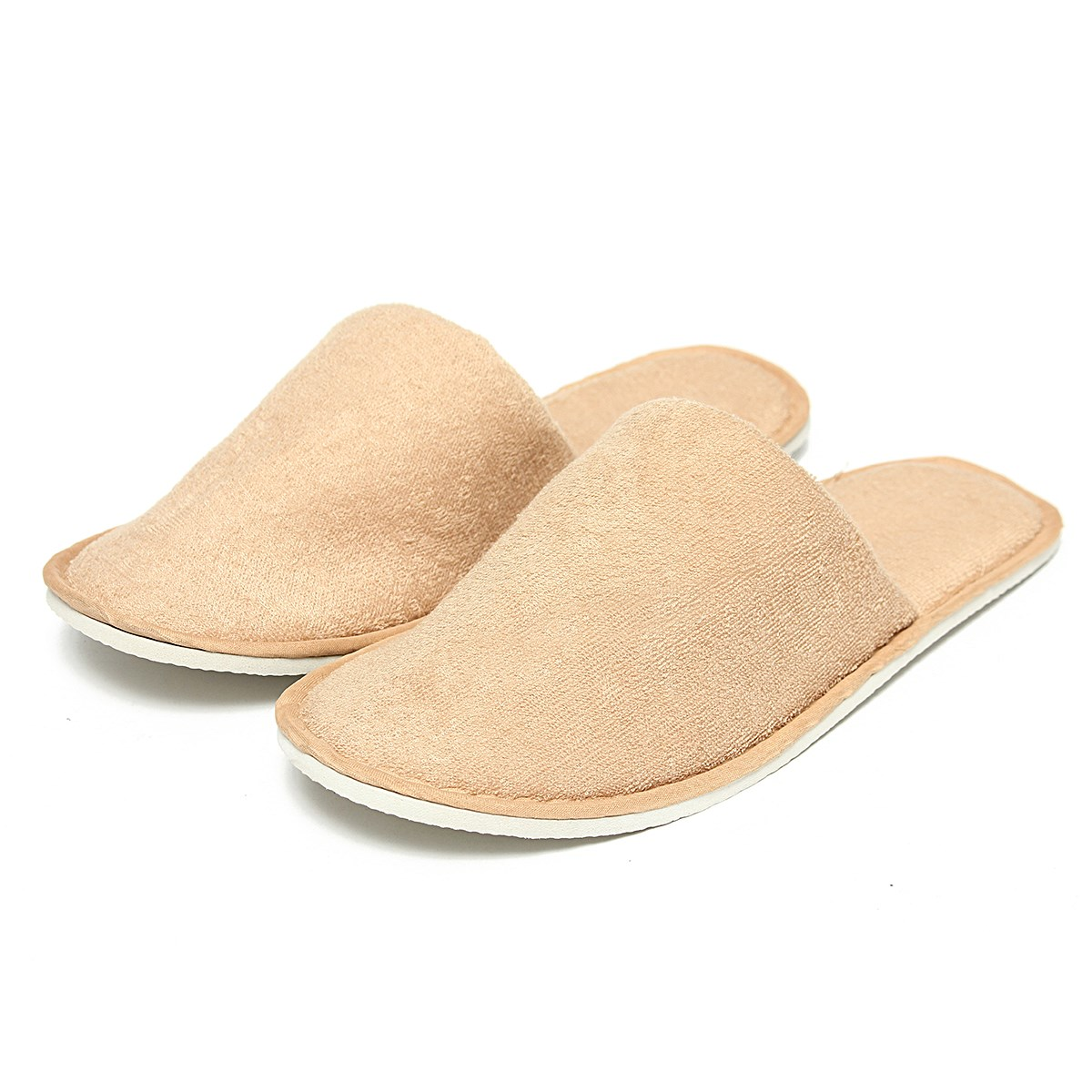 Unisex 5pair Lot Breathable Disposable Spa Hotel Slippers Women Men Home Indoor Shoes Casual